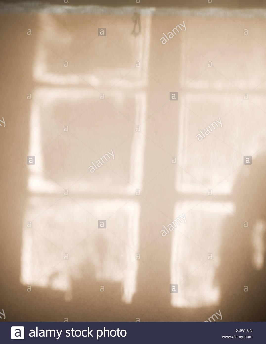 Scandinavian Peninsula, Sweden, Skane, View of window - Stock Image