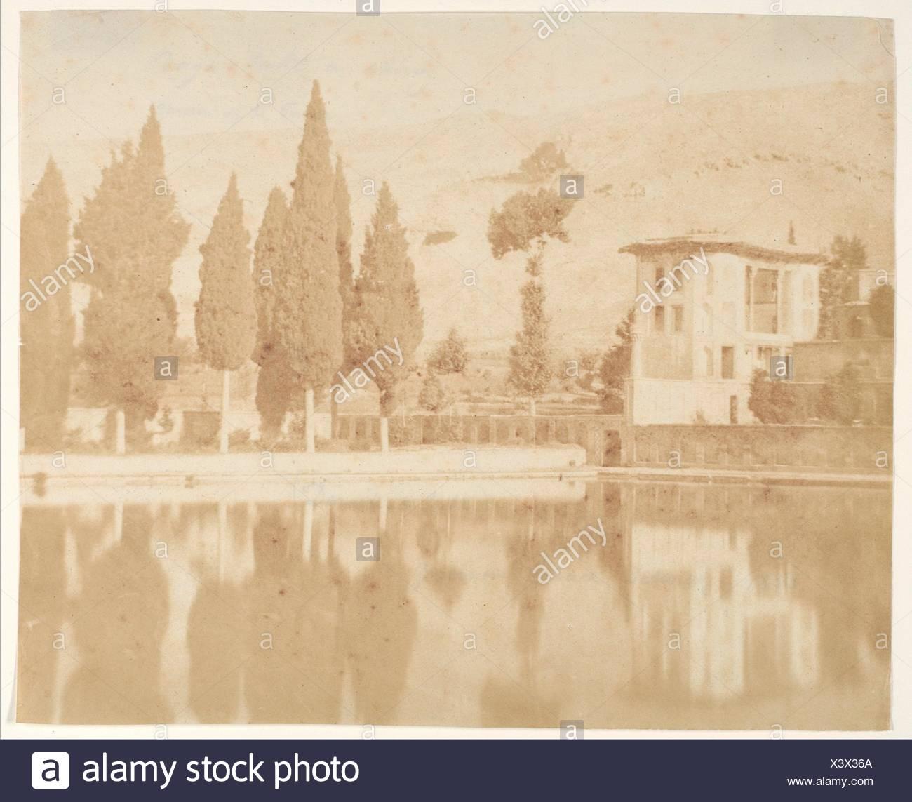 Bagh-takt a chiraz. Artist: Luigi Pesce (Italian, 1818-1891); Date: 1858; Medium: Salted paper print from paper negative; Classification: - Stock Image