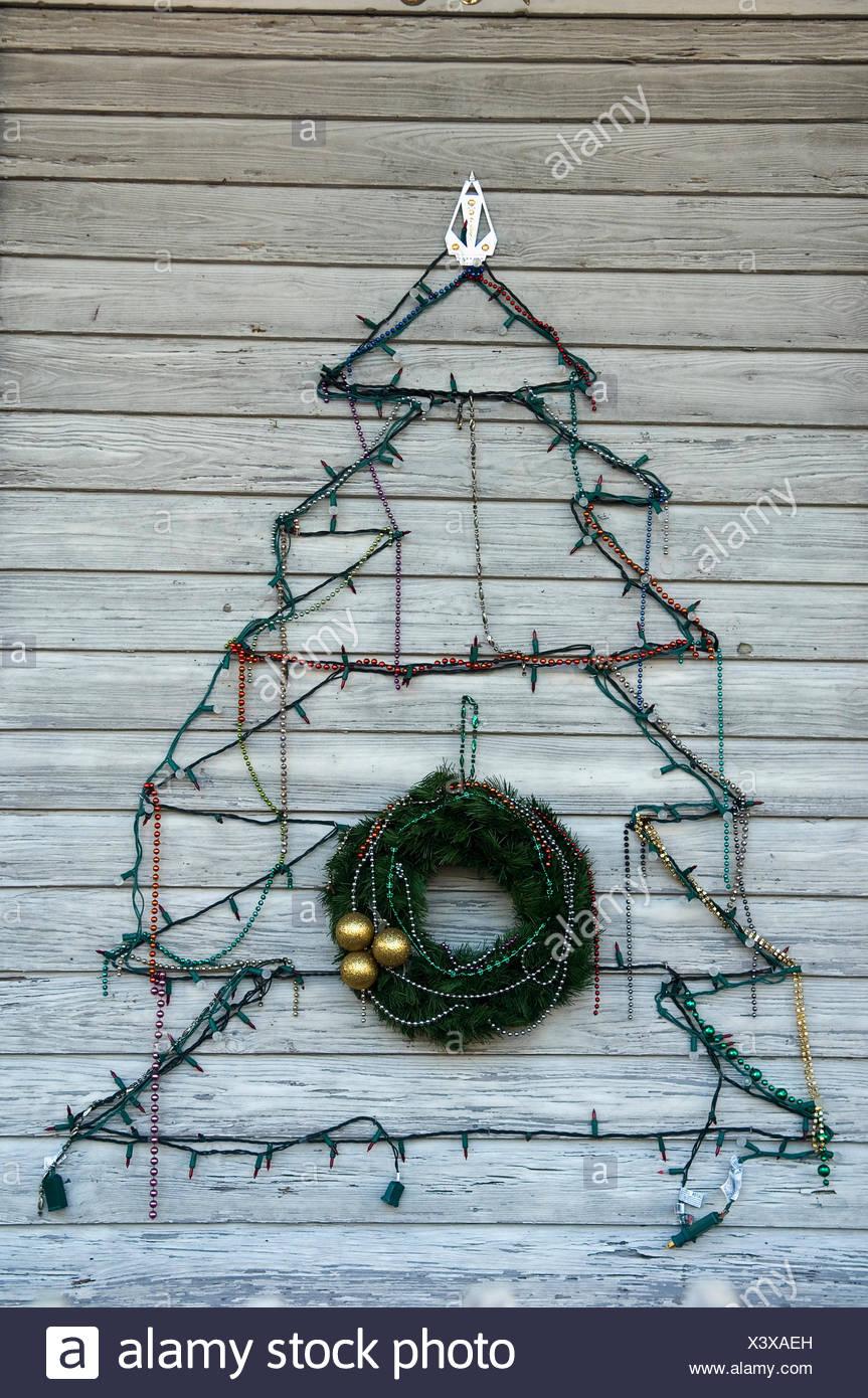 Christmas In Florida Keys.Usa Florida Keys Artistic Christmas Tree Key West Stock