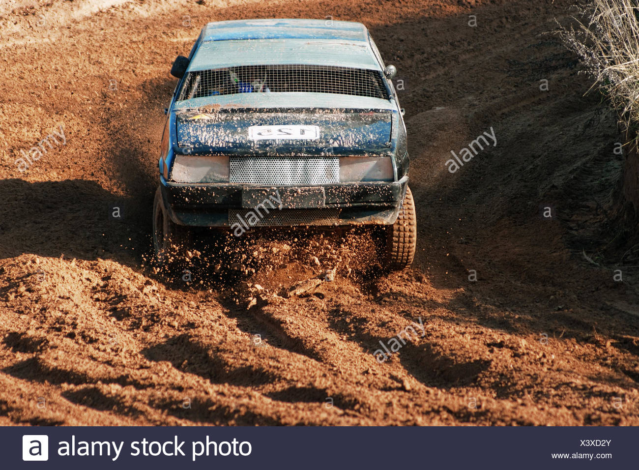 The black car on extreme races - Stock Image