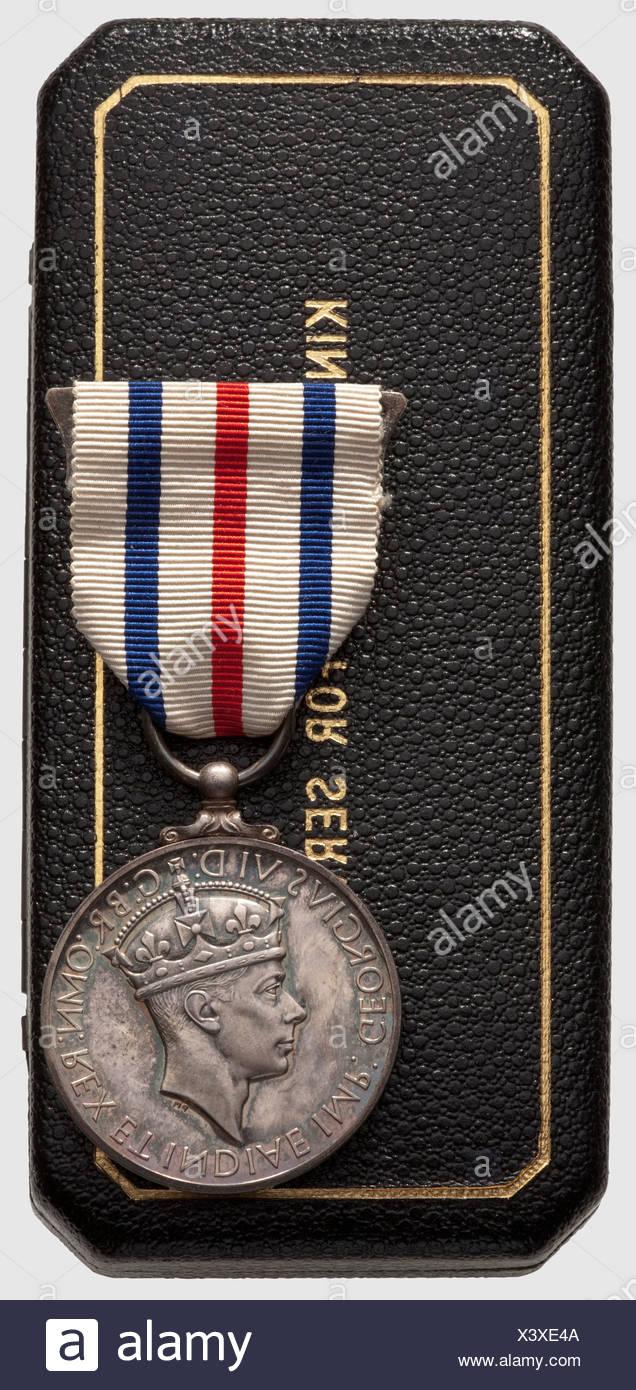 Allied Subjects' Medal, . Médaille du courage, décernée aux alliés ayant aidé un anglais lors de la Première Guerre mondiale, en argent, seulement 134 exemplaires ont été décernés, dans son coffret, , Additional-Rights-Clearences-NA - Stock Image