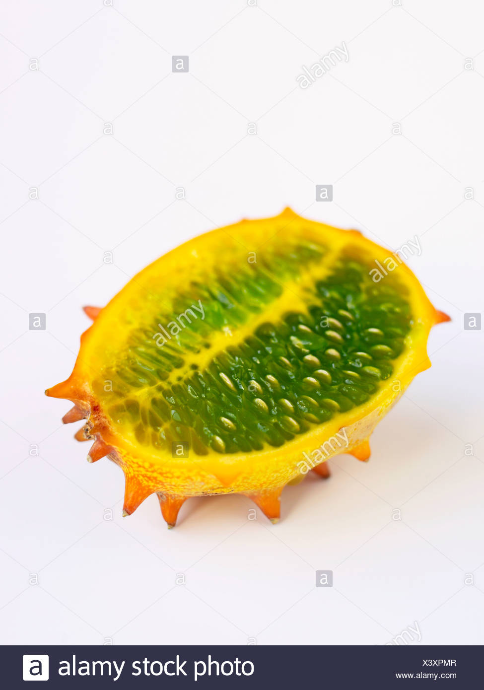 Horned Melon, Kiwano, Kawani Fruit - Stock Image