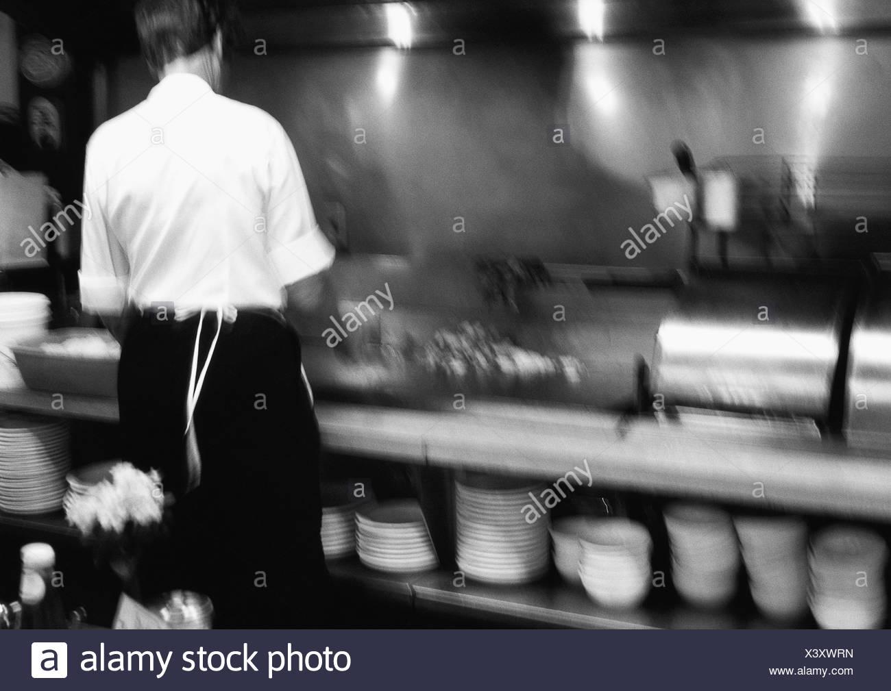 Short-order cook - Stock Image