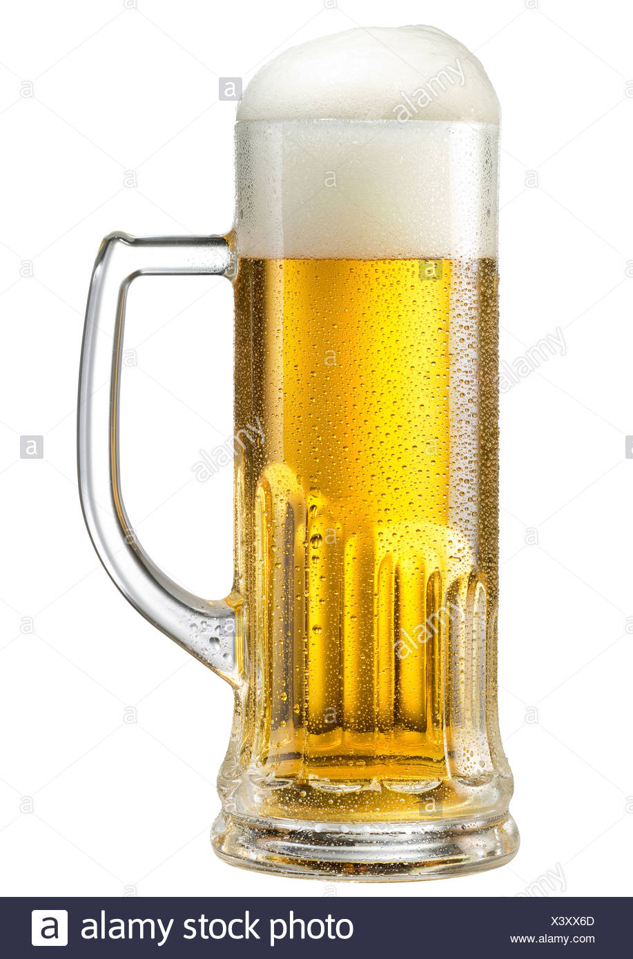 Berlin, Germany, a beer glass with draft beer - Stock Image
