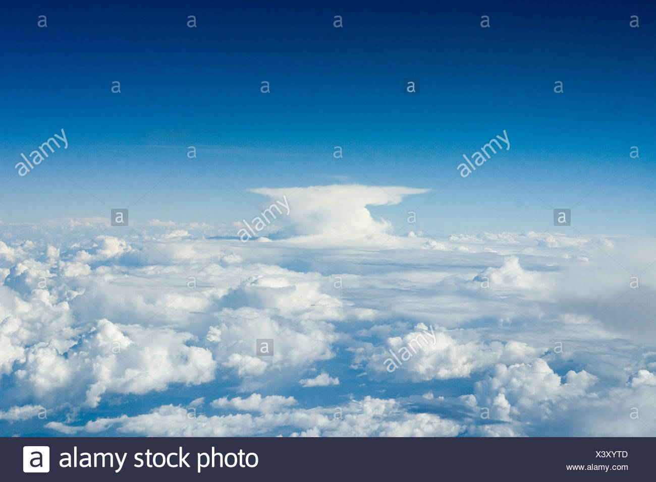 Africa An Anvil Cloud - Stock Image