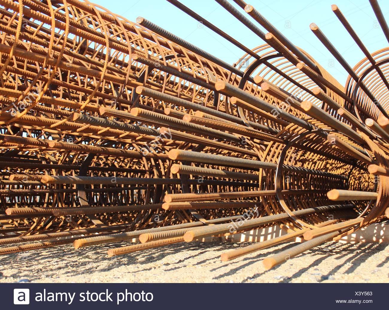 Core wire for concrete - Stock Image