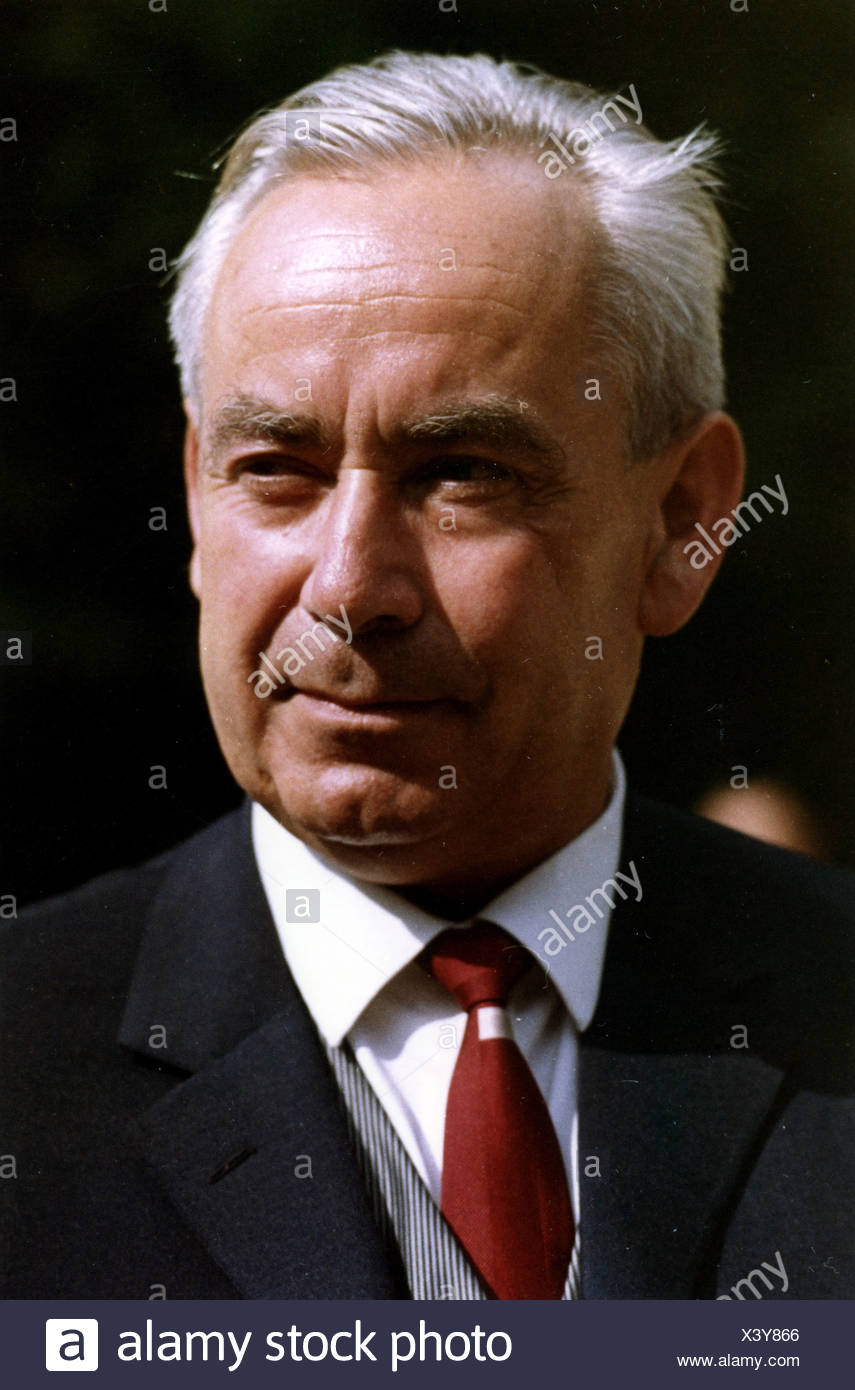 Heck, Bruno, 20.1.1917 - 16.9.1989, German politician (CDU), Federal Minister for Family Affairs 12.12.1962 - 1.10.1968, portrait, 1965, Additional-Rights-Clearances-NA - Stock Image