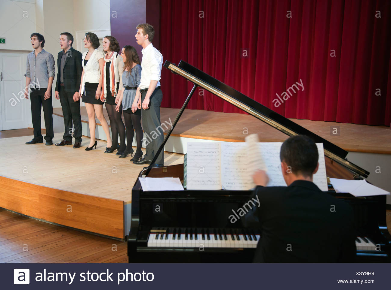 Essen, Germany, the change concerts in Hochschulchoere Fuhr - Stock Image