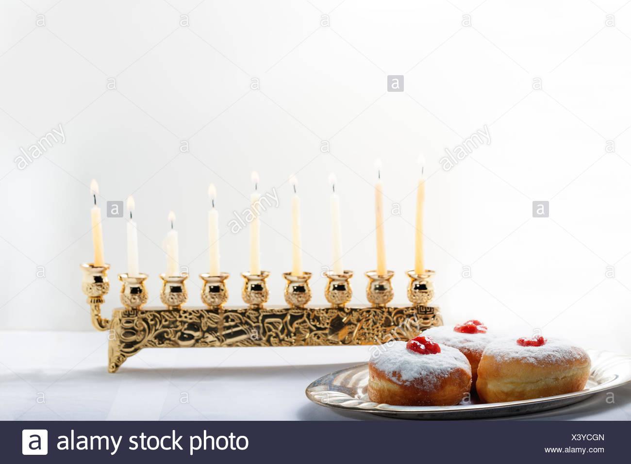Sufganiyot for Hanukkah - Stock Image