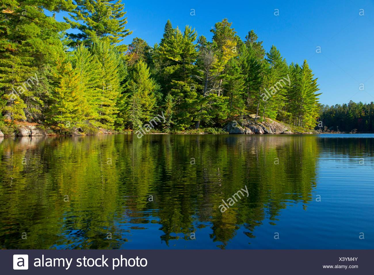 South Hegman Lake, Boundary Waters Canoe Area Wilderness, Superior National Forest, Minnesota. - Stock Image