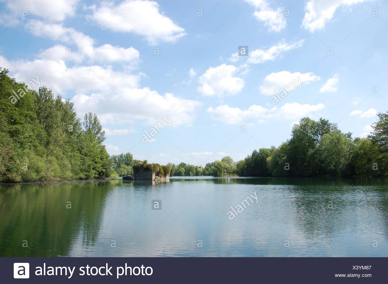 lake,adolfo lake - Stock Image