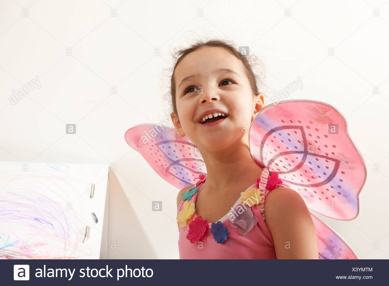 Little girl with fairy costume - Stock Image