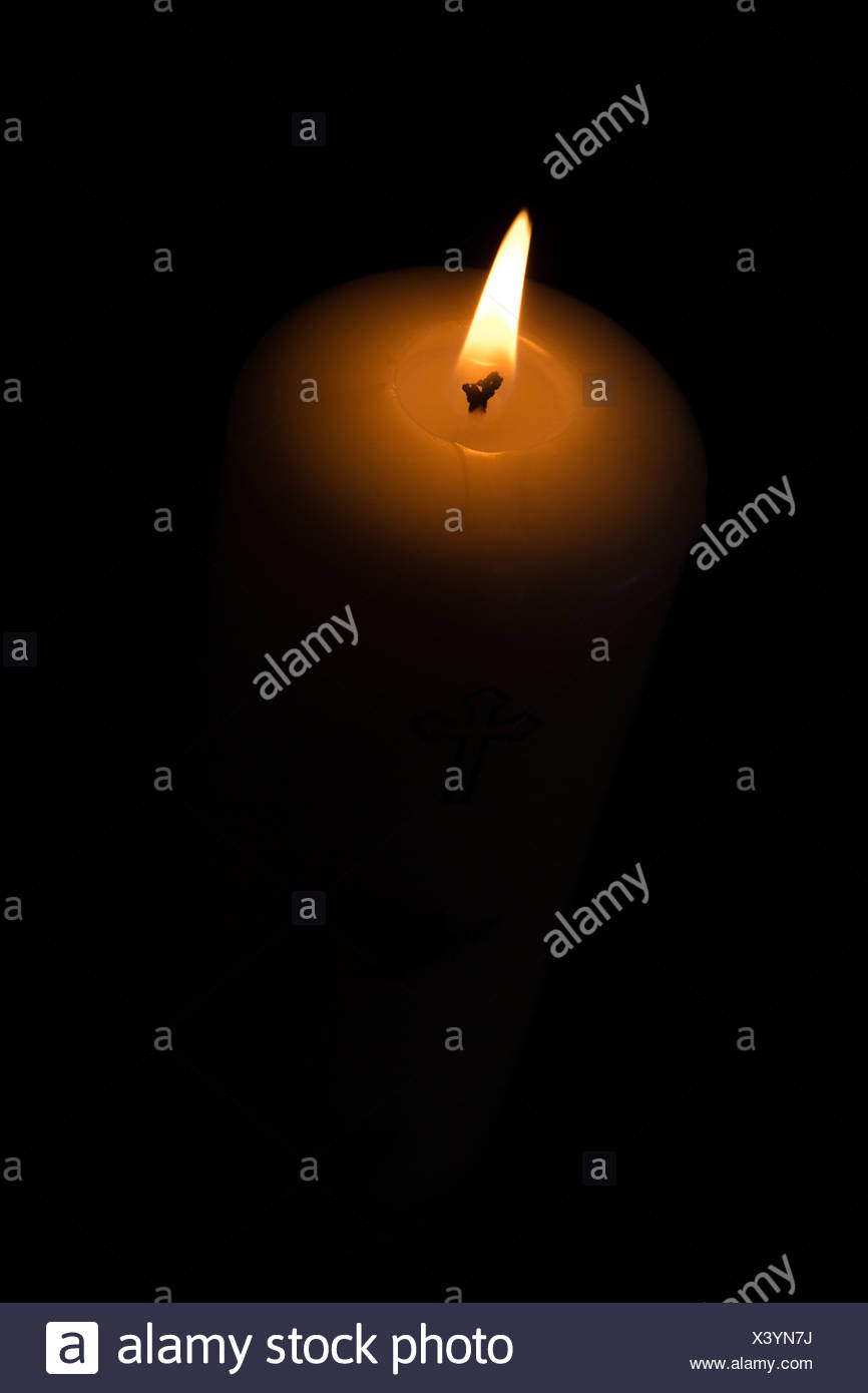 A light in the darkness - Stock Image