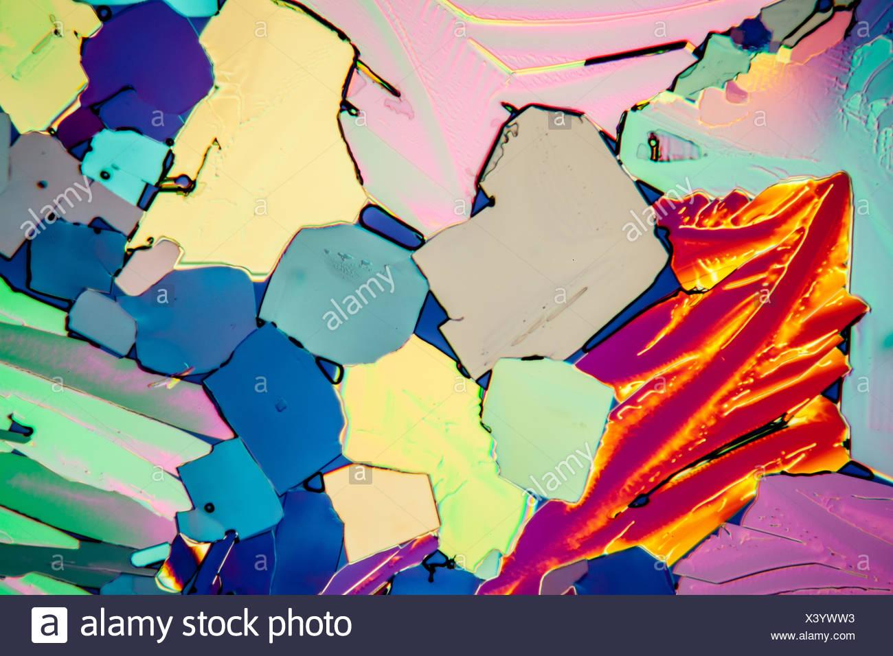 urea crystals - Stock Image