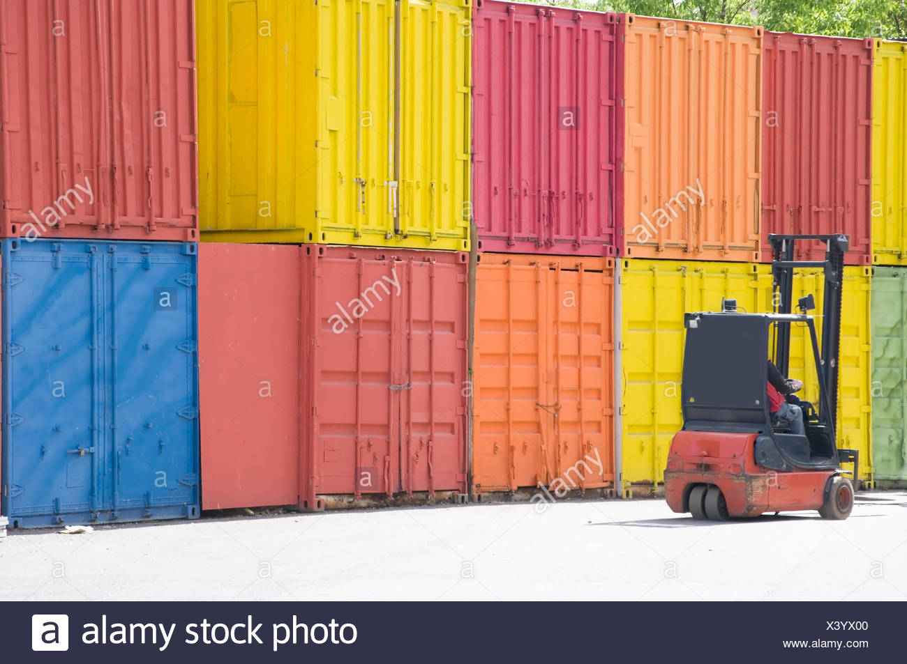 container fork lifter Stock Photo