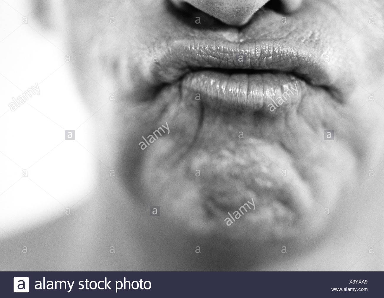 puckered lips stock photos & puckered lips stock images - alamy