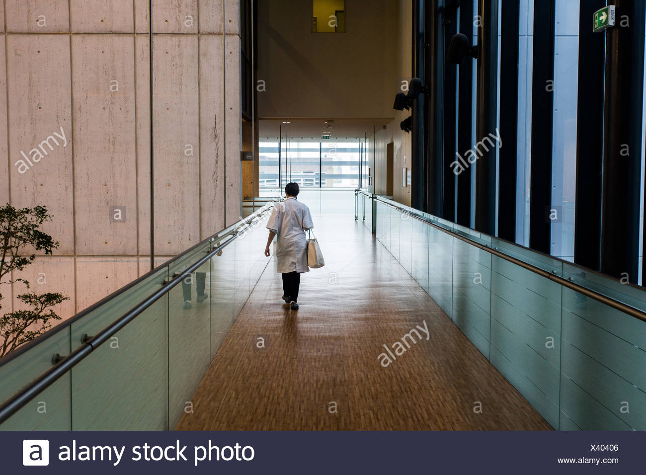 Hospital corridor. - Stock Image
