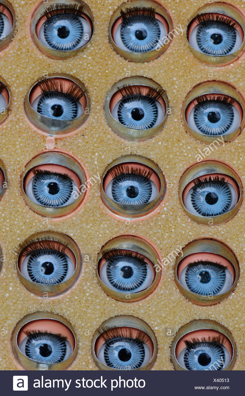 Glass-eye, eyes, see, concepts, dolls, pupil - Stock Image