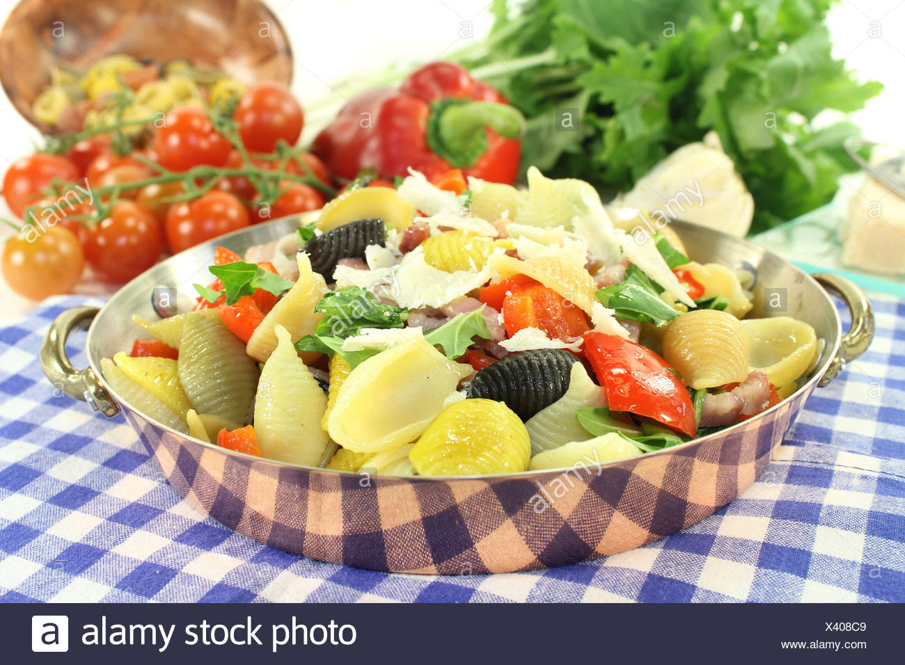 pasta pan Stock Photo