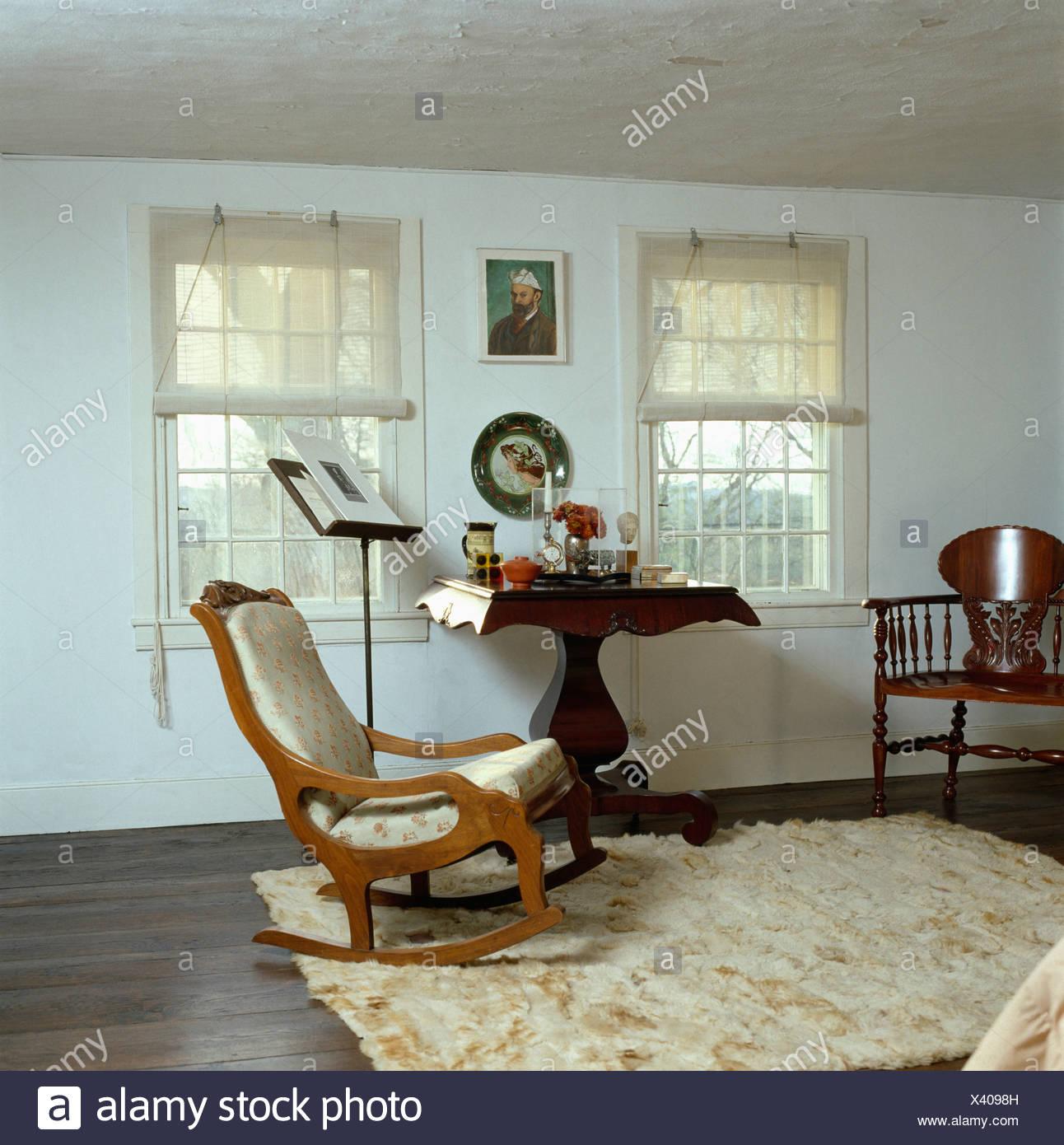 Incredible Cream Ponyskin Rug On Dark Wood Floor In White Bedroom With Spiritservingveterans Wood Chair Design Ideas Spiritservingveteransorg