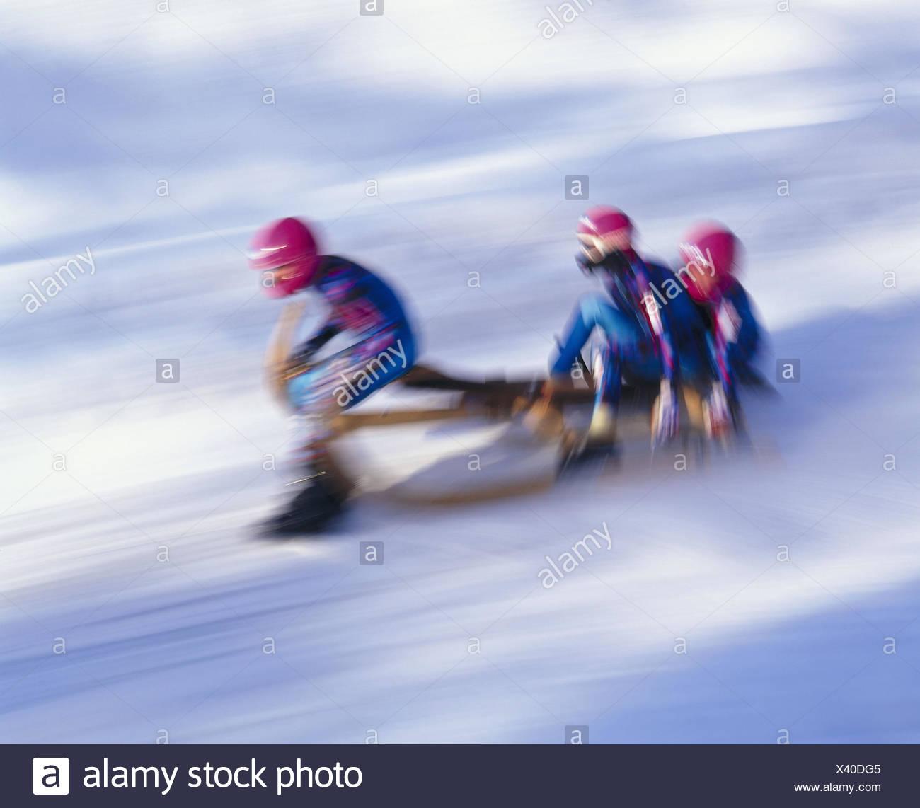 Austria, Tyrol, Seefeld, Horn Slide Race, Participant, Blur Sport, Fun