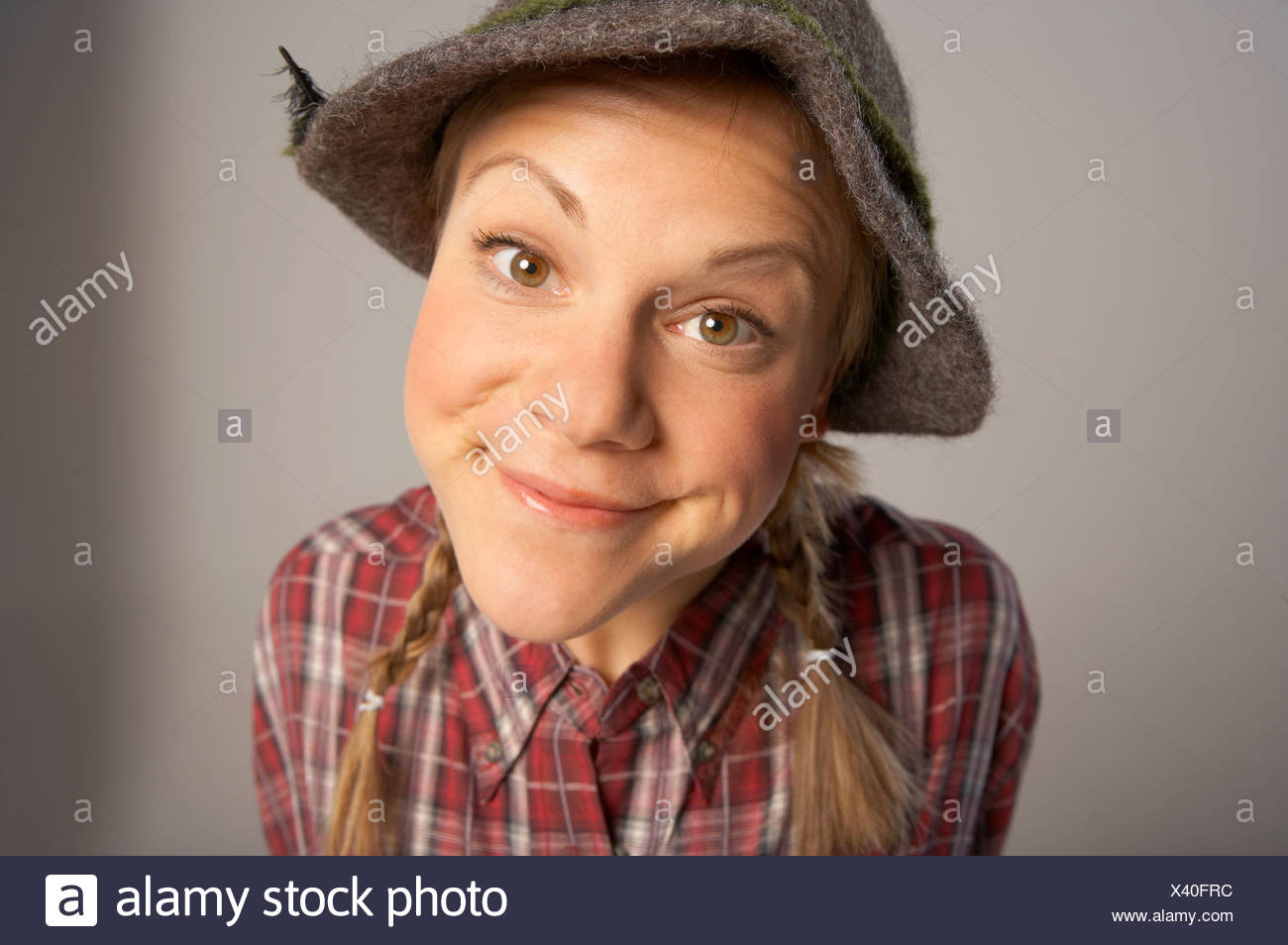 Portrait of a woman. - Stock Image