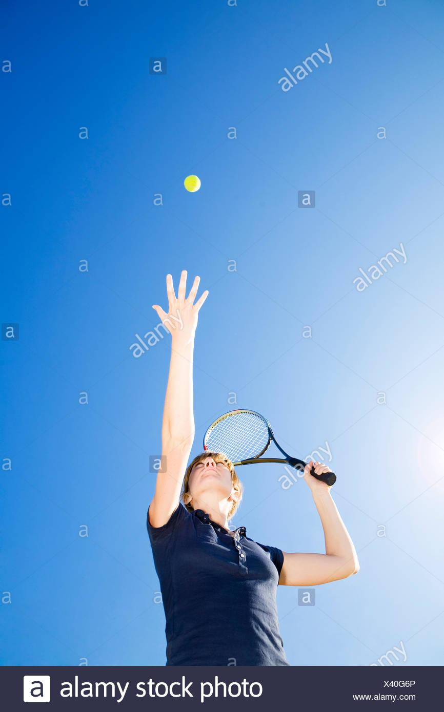 woman sport sports - Stock Image