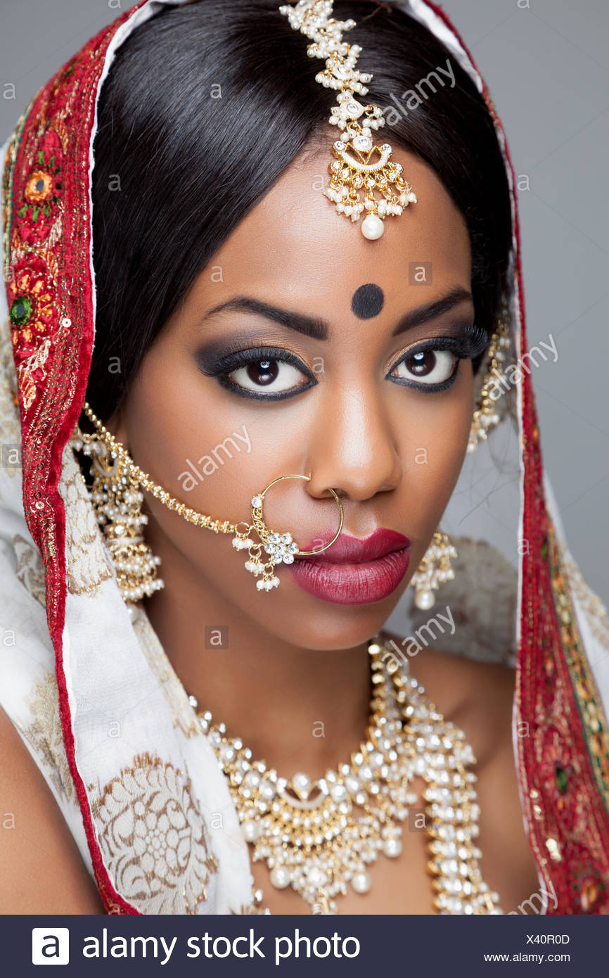 Young Indian woman dressed in traditional clothing with