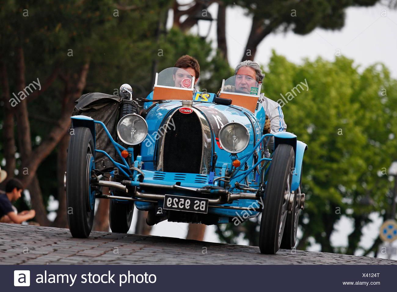 Vintage Car, Bugatti T 37 A, Built In 1927, Mille Miglia 2011,