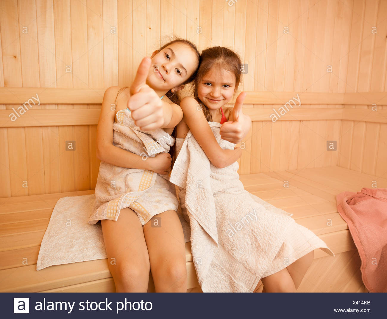 Happy sauna girls