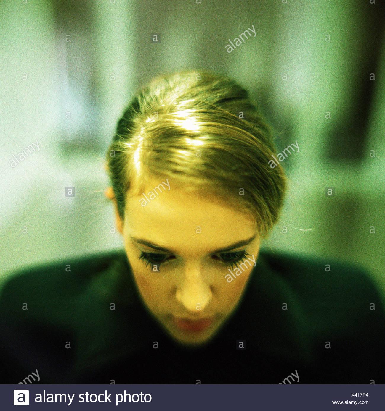 Woman, portrait - Stock Image