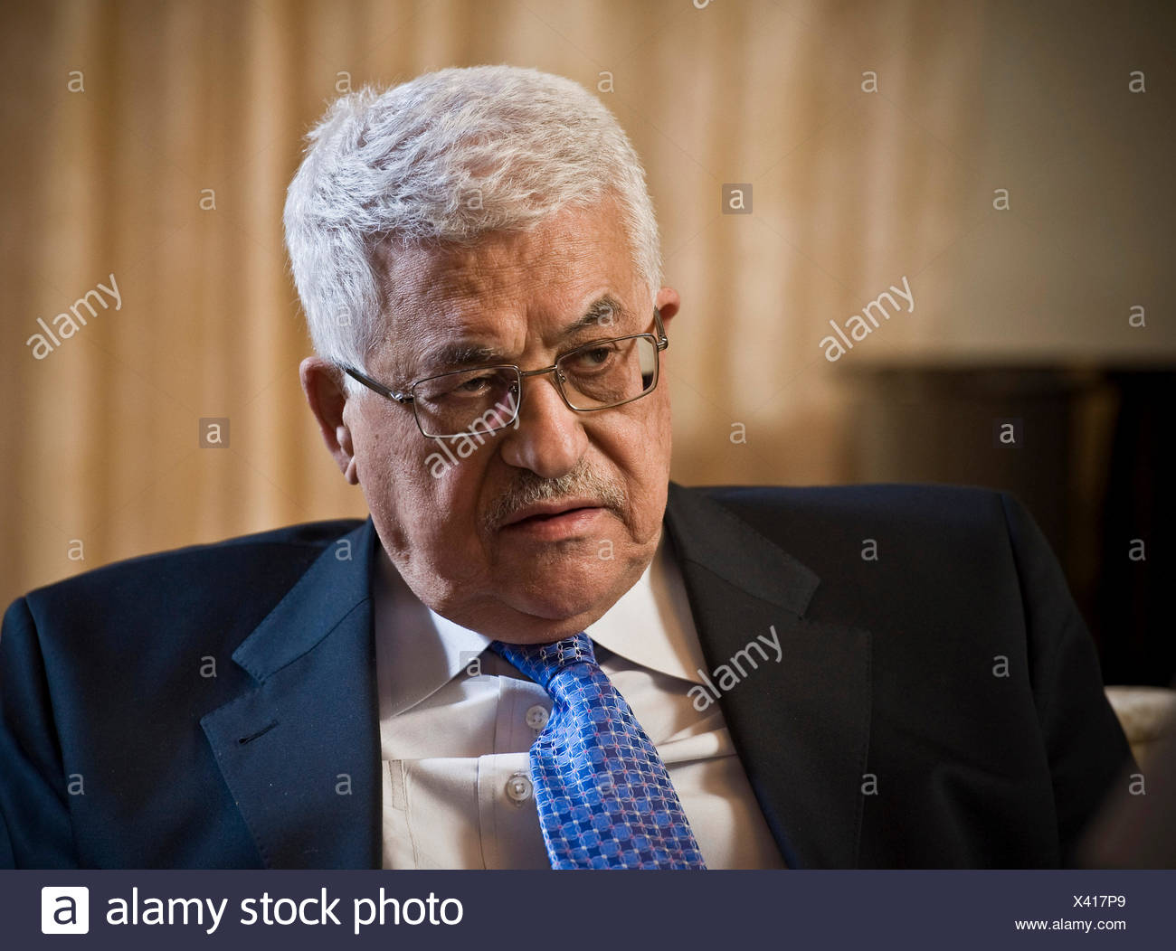 Mahmoud Abbas, chairman of the Palestine Liberation Organization PLO, Berlin - Stock Image