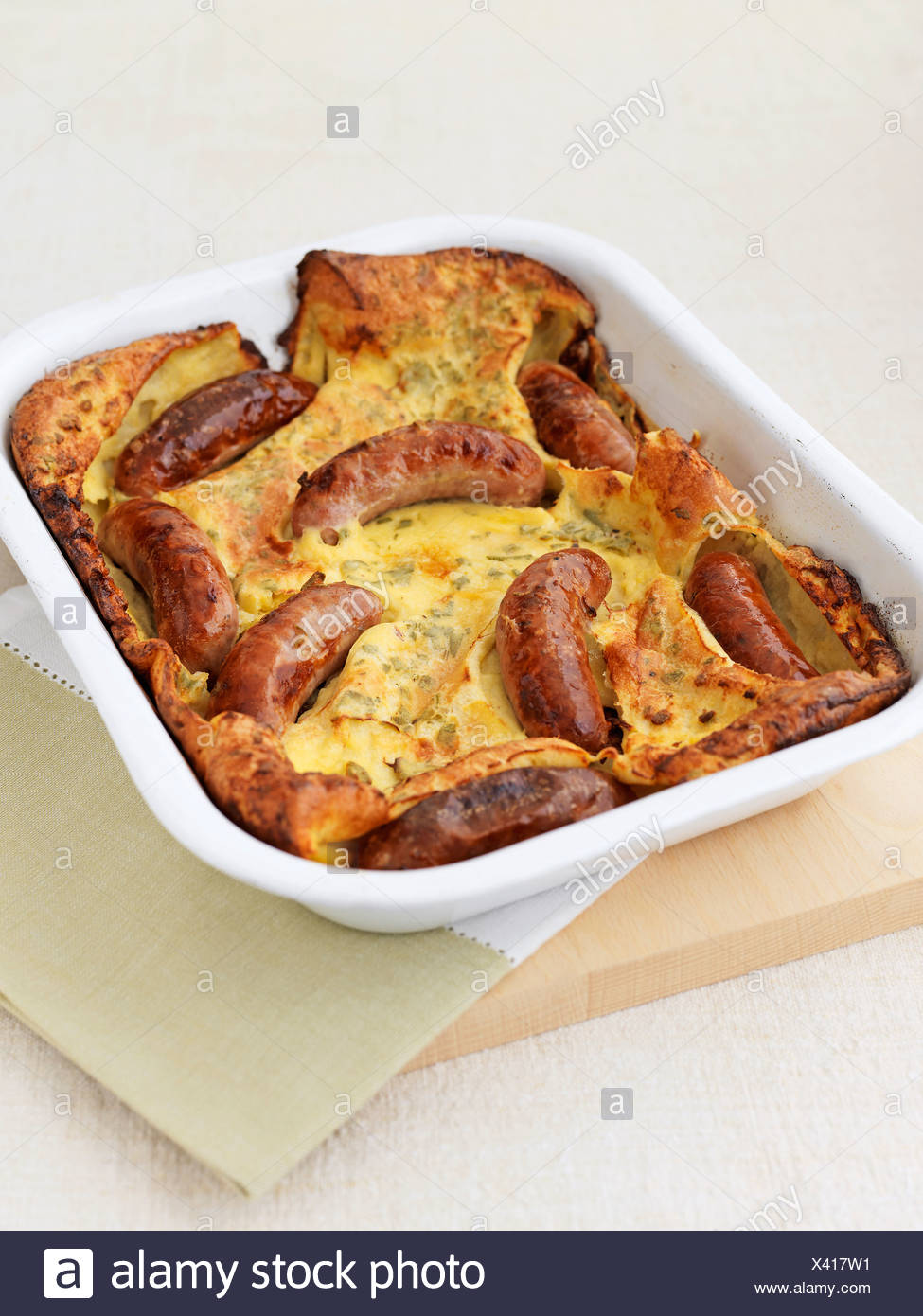 Toad in the hole - Stock Image