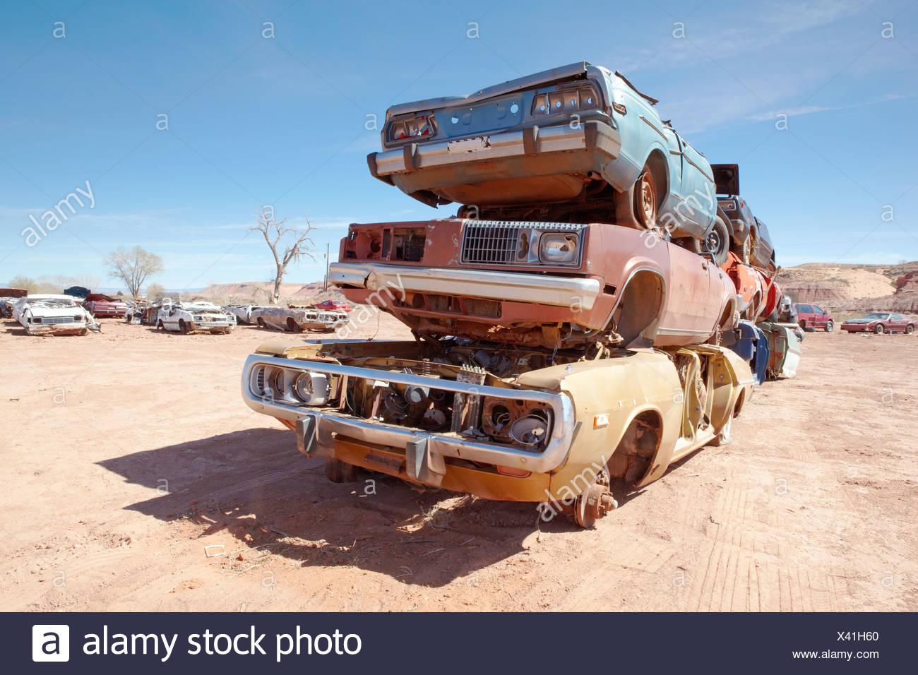 Pile of scrap cars Stock Photo: 277859960 - Alamy