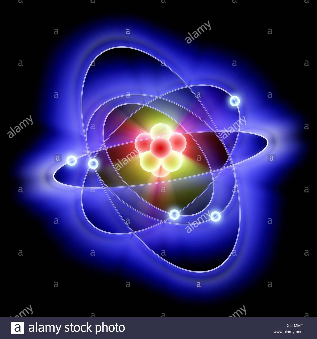 Atomic structure, artwork - Stock Image