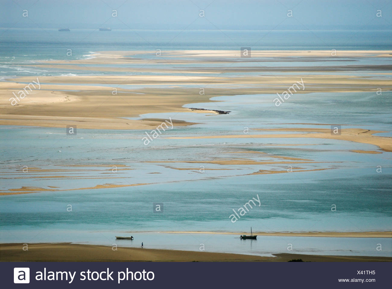 Coast at Inhaca Island, Mozambique, Africa Stock Photo