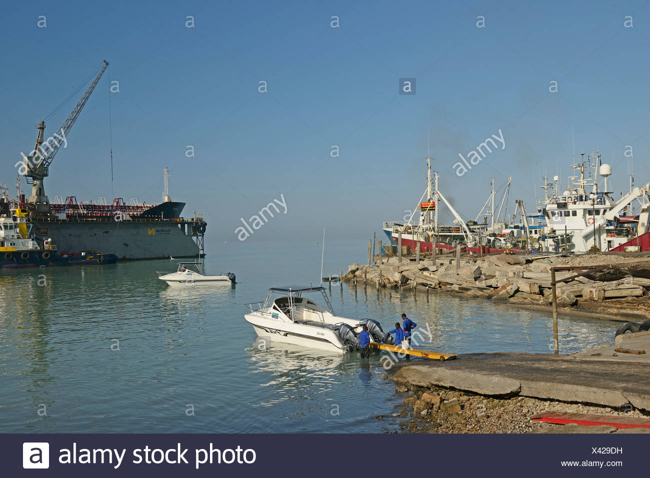 Africa, Namibia, Walvis Bay, Harbor, Harbour - Stock Image