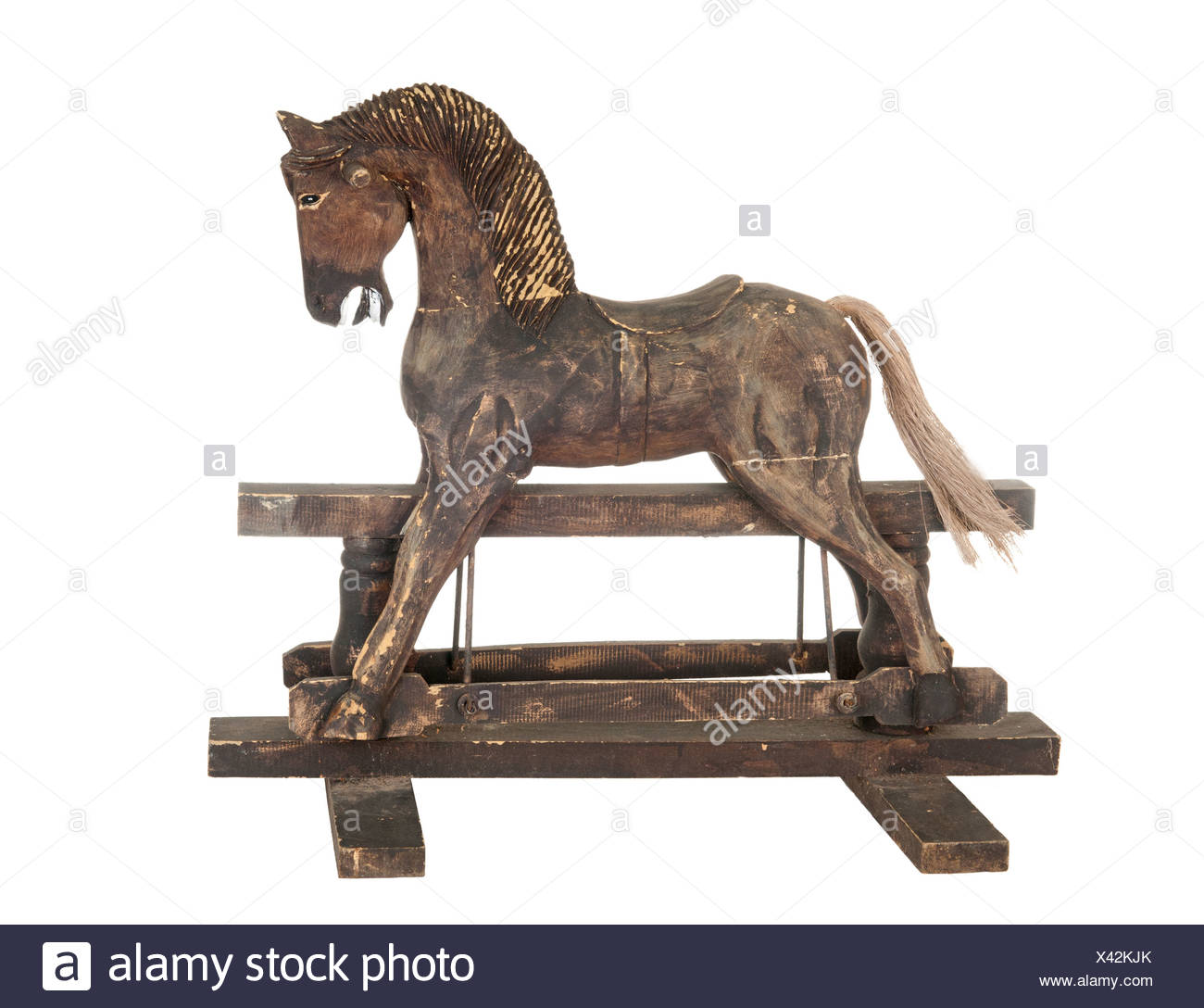 Old Rocking Horse High Resolution Stock Photography And Images Alamy