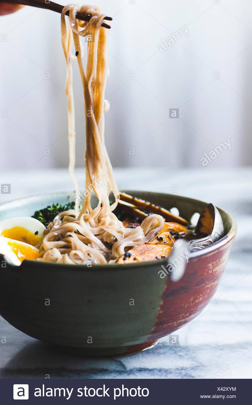 Ramen noodles soup - Stock Image