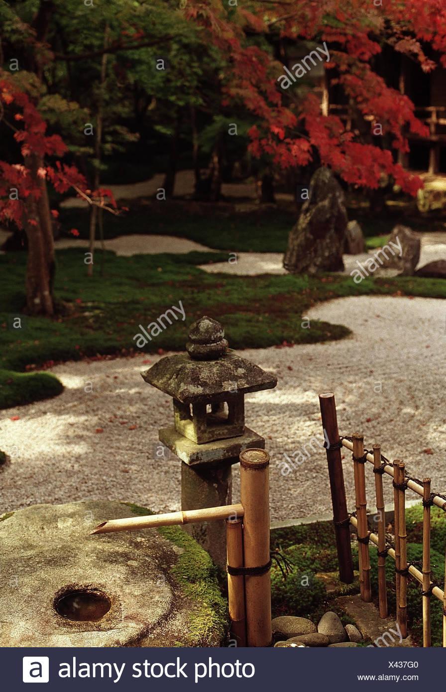 Japan, Kyushu, Dazaifu, Komiyo Ji Tempel, Ittekikaino Niwa Garten Innen