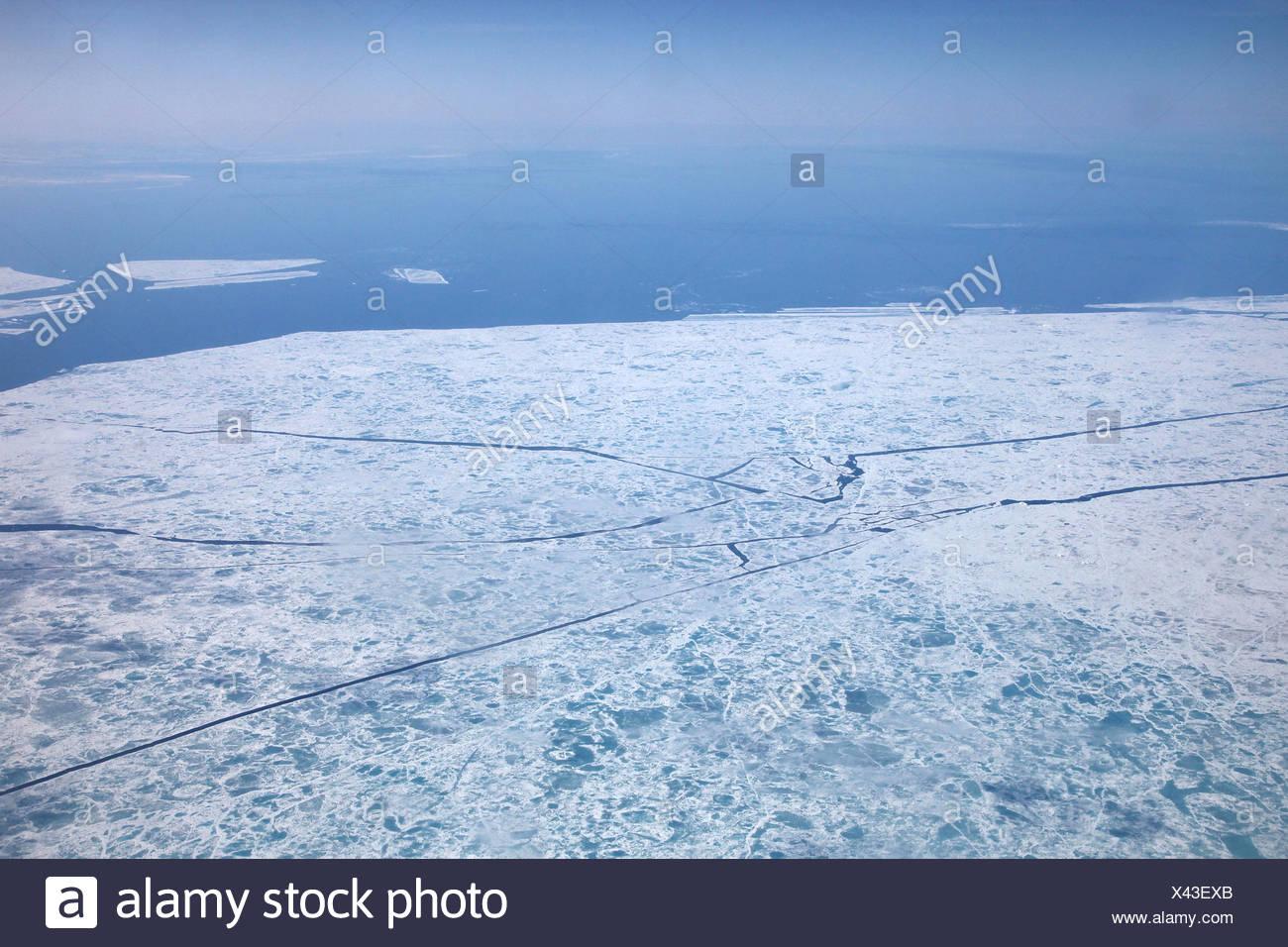 the ice is breaking, Canada, Nunavut Stock Photo