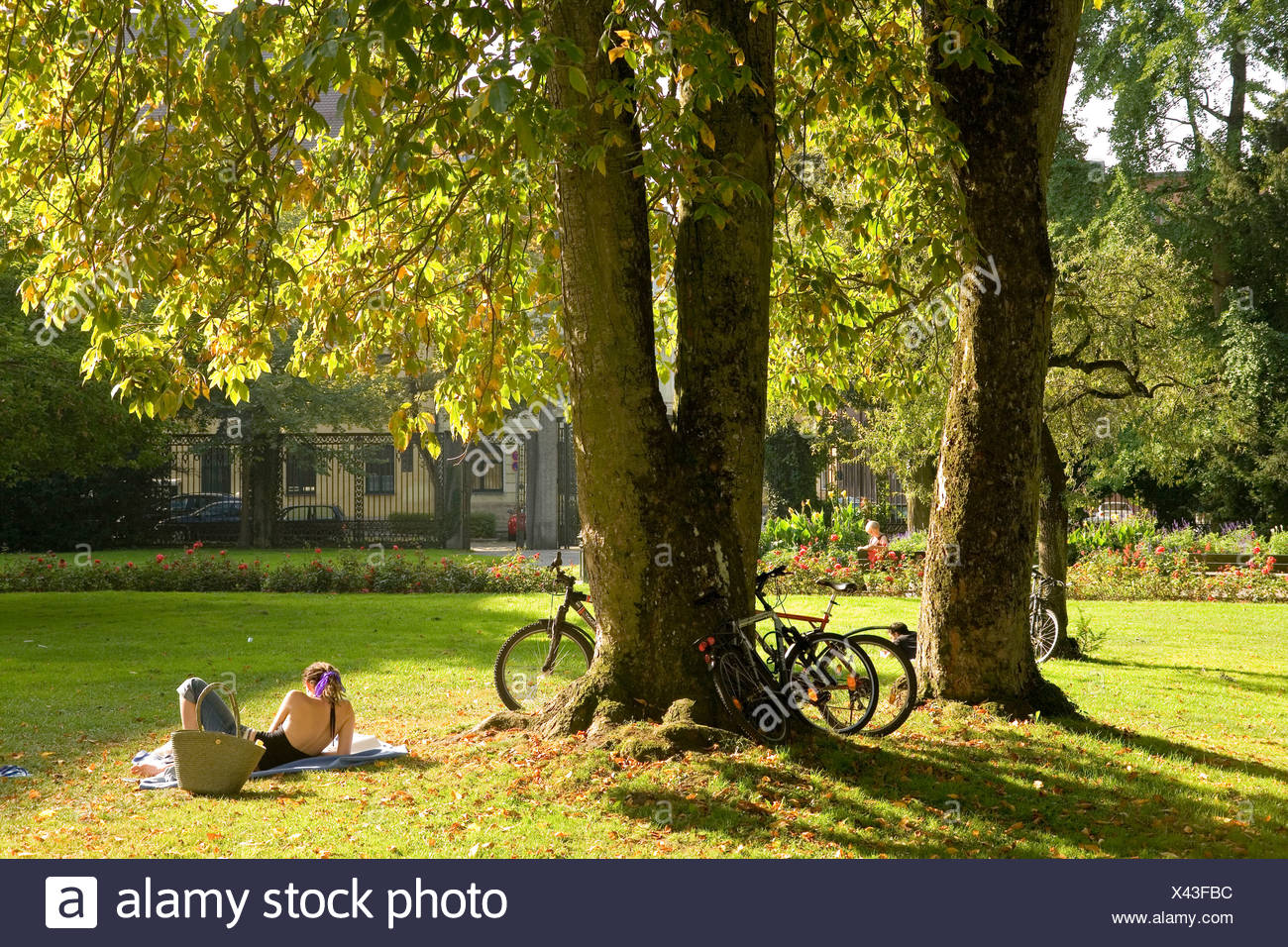 Late summer in Augsburg, Bavaria, Germany - Stock Image