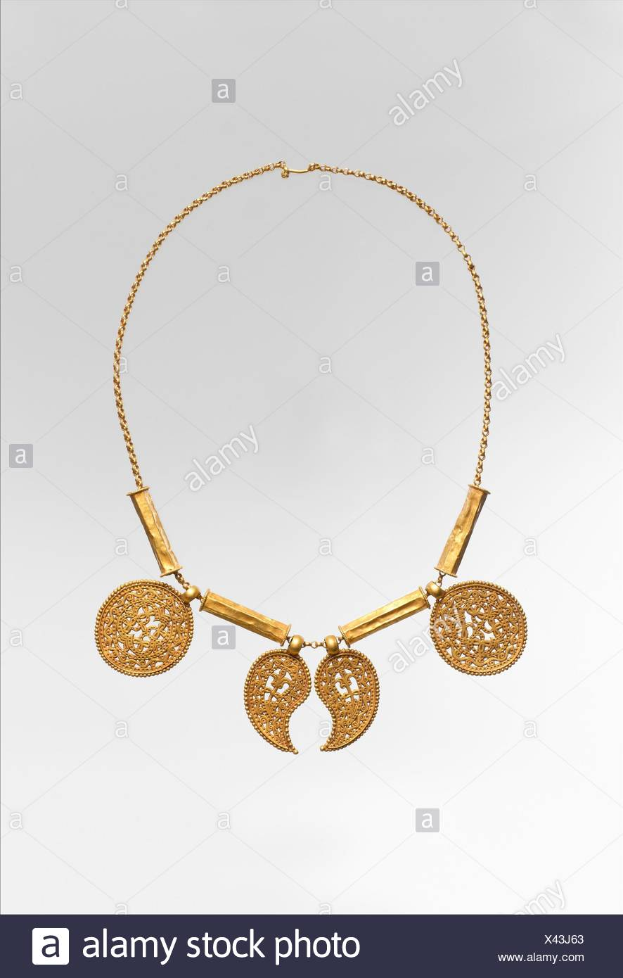 Engraved necklace stock photos engraved necklace stock images alamy gold necklace with pendants date ca 7th century culture byzantine aloadofball Choice Image