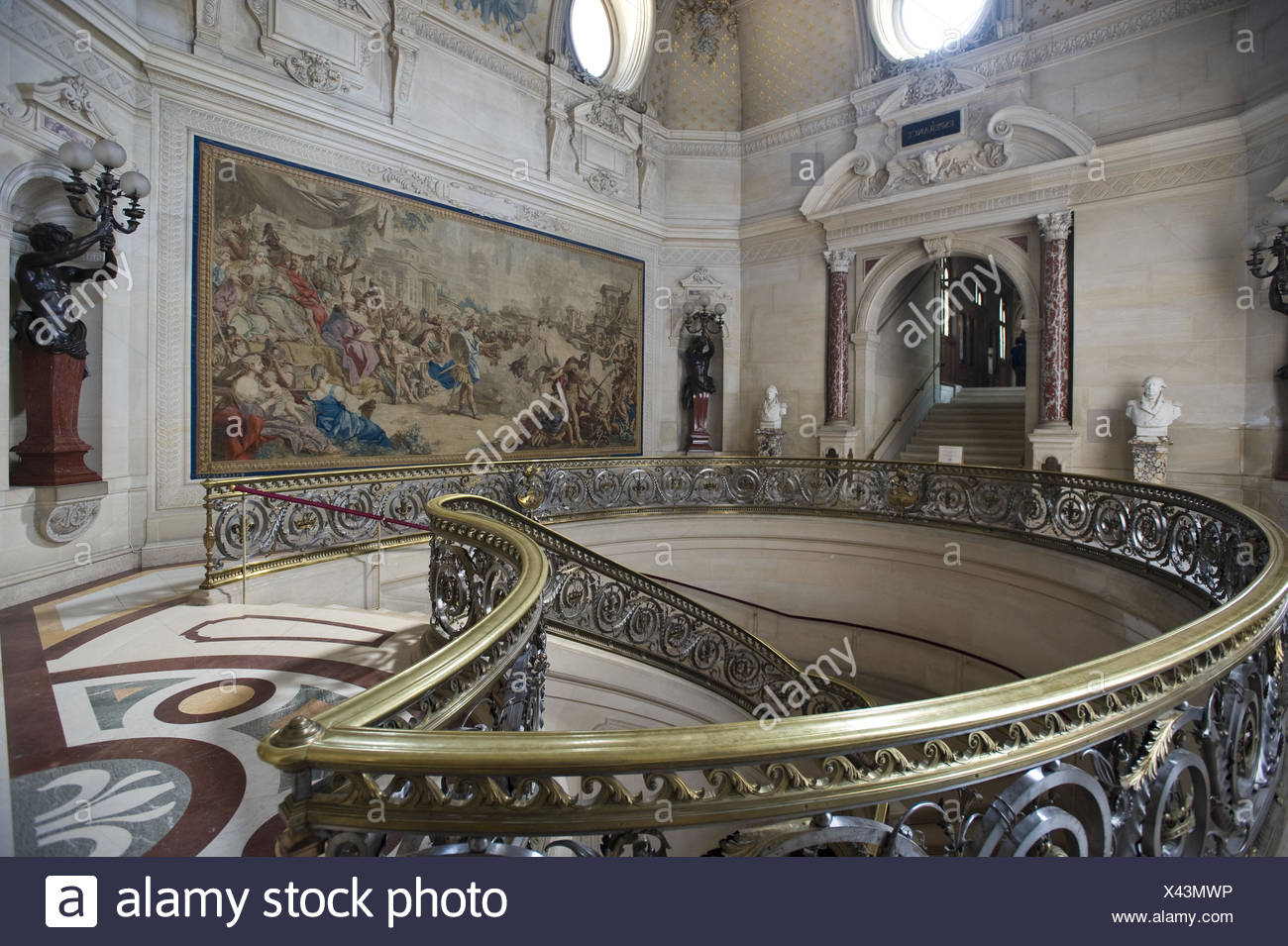 Stairways,  Chateau de Chantilly - Stock Image