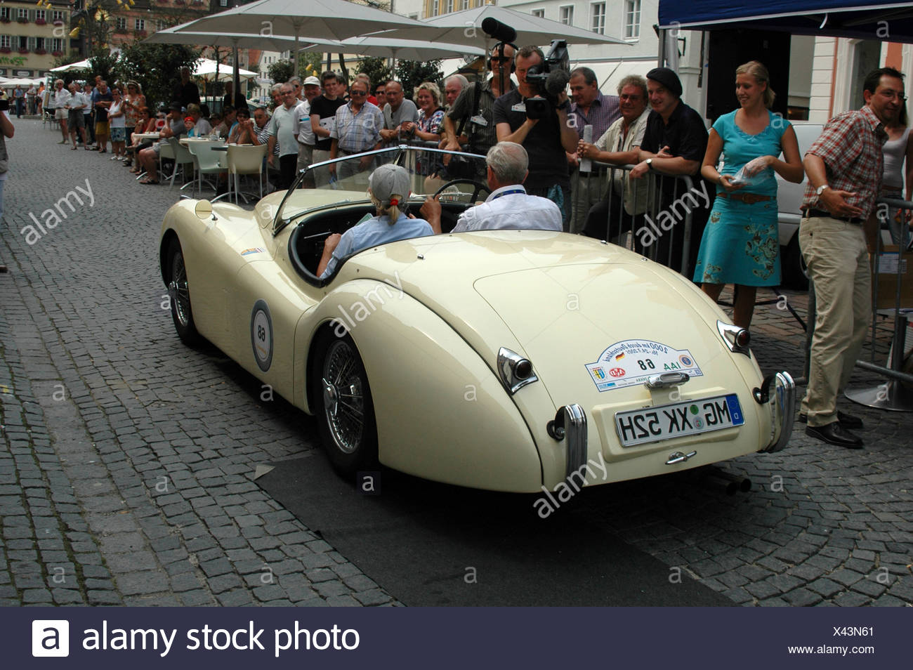 Vintage Jaguar, Vintage Car Rally, 2000 Km Through Germany, Schwaebisch  Gmuend, Baden Wuerttemberg, Germany, Europe