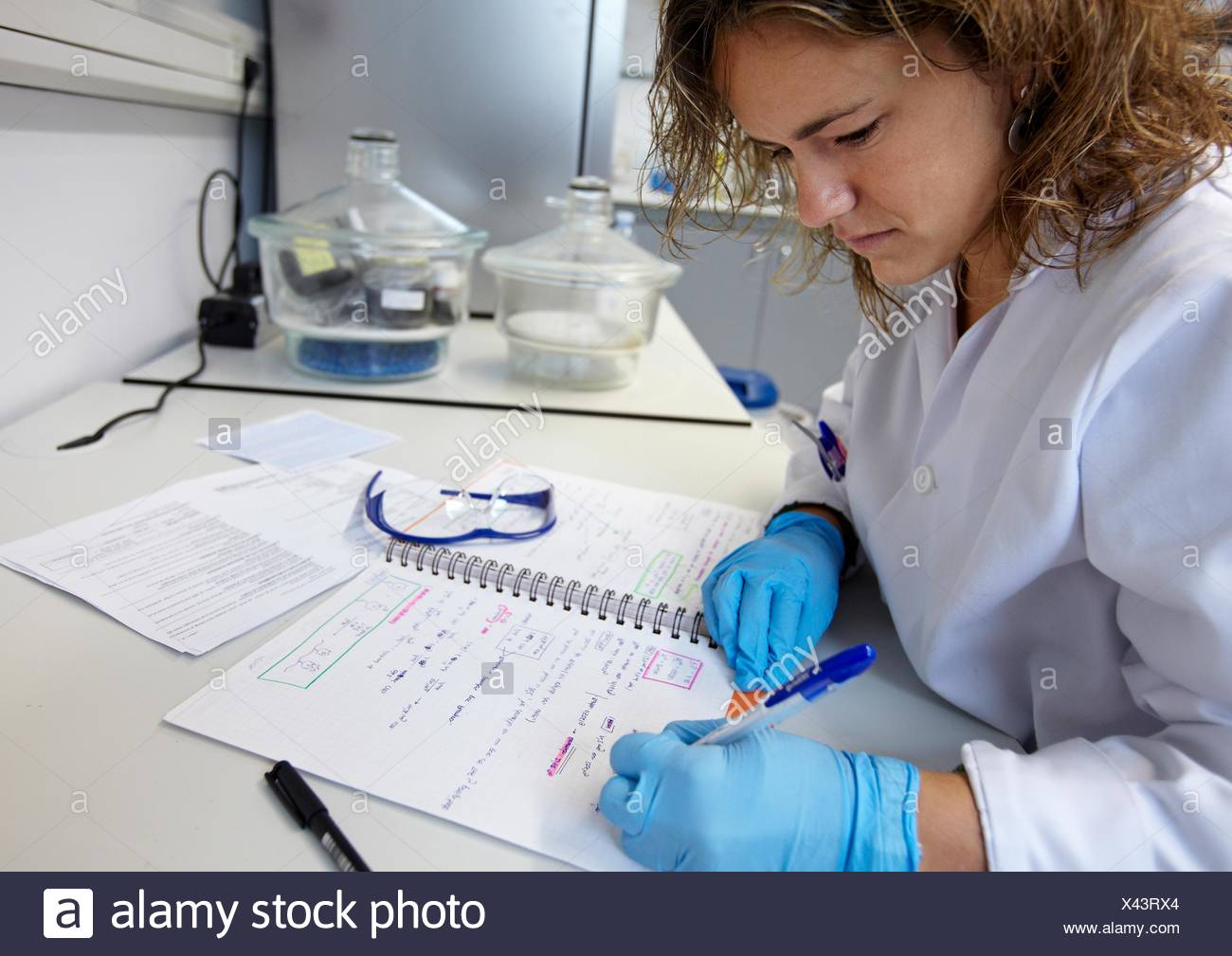 Reaction calculation, Polymer Laboratory, Materials Physics Center is a joint center of the Spanish Scientific Research Council - Stock Image
