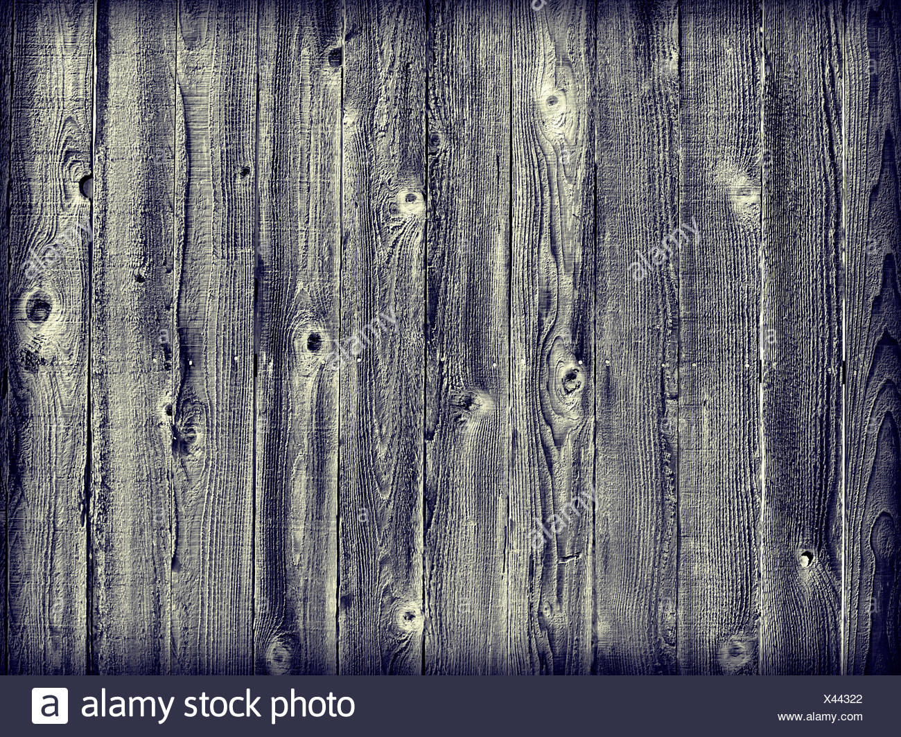 blue wood wall - Stock Image