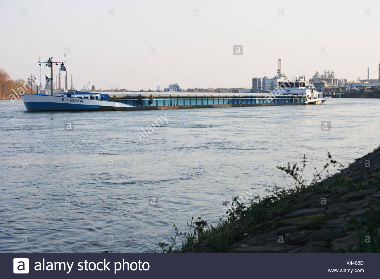 Inland ship - Stock Image