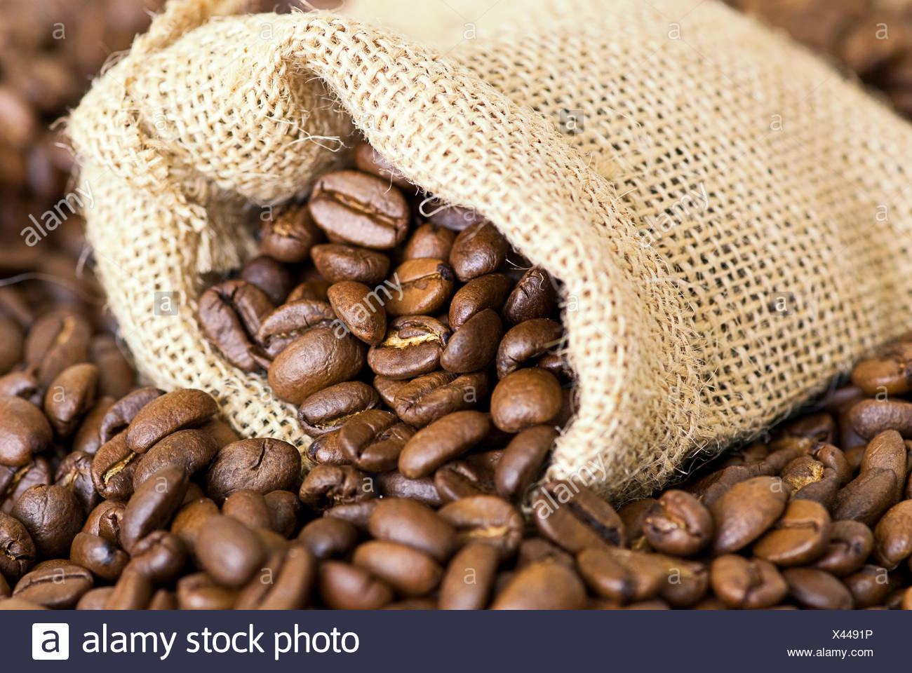 coffee coffee bean bag - Stock Image