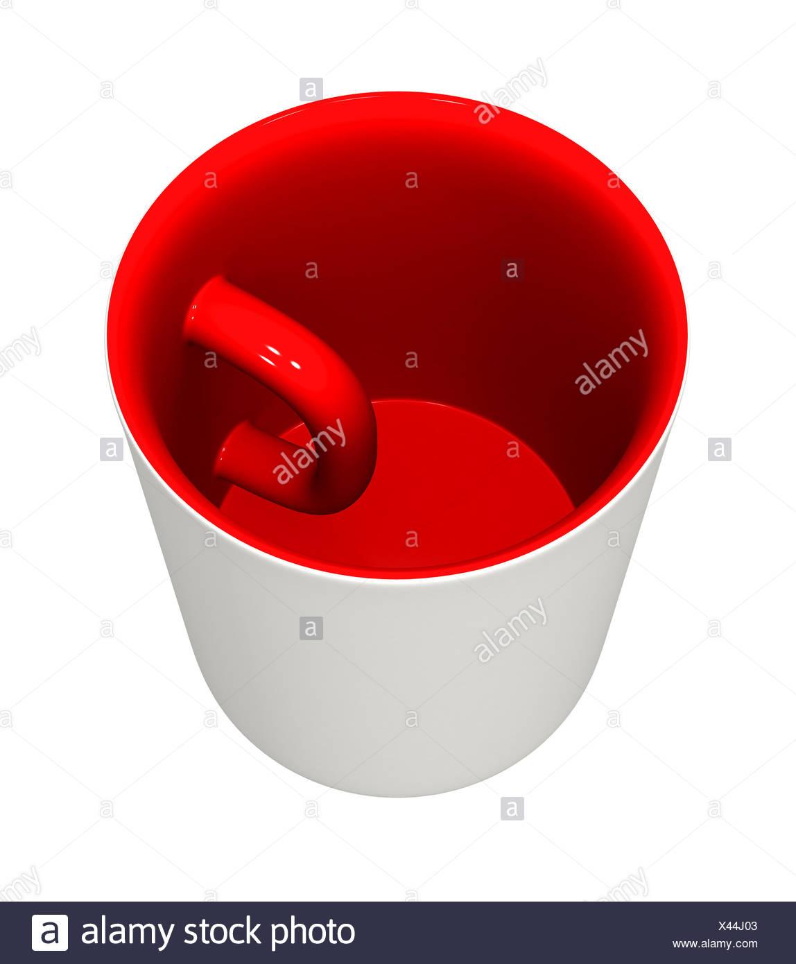 Mug inside out Stock Photo